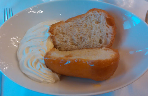 Rum Baba, citrus punch, whipped Malagasy vanilla cream
